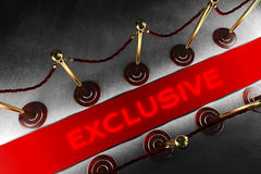 Barriera della corda con tappeto rosso esclusivo Fotografia Stock Libera da Diritti