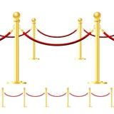 Barriera della corda isolata su bianco illustrazione di stock