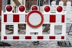 Barriera della costruzione Immagini Stock