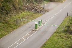 Barriera della strada o controllo possibile Fotografia Stock