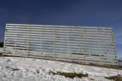 Barriera della valanga Fotografia Stock