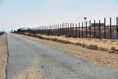 Barriera di Israel Egypt Immagine Stock