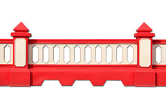 Barriera di plastica della strada Fotografia Stock