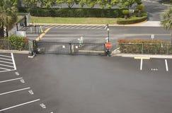 Barriera di sicurezza del parcheggio Immagine Stock Libera da Diritti