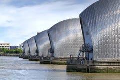 Barriera di Tamigi in Woolwich, Londra, Regno Unito fotografia stock