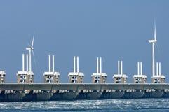 Barriera orientale della mareggiata della Schelda, Paesi Bassi fotografia stock libera da diritti
