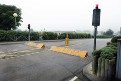Barriere della via di accesso sul campeggio del caravan Immagine Stock Libera da Diritti