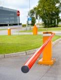 Barriere di parcheggio Fotografie Stock Libere da Diritti