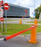 Barriere di parcheggio Immagine Stock Libera da Diritti
