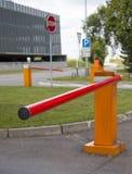 Barriere di parcheggio Fotografie Stock