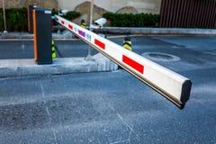 Barriere di parcheggio fotografia stock libera da diritti