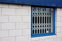 Barriere di sicurezza ritrattabili della finestra Fotografia Stock Libera da Diritti