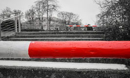 Barriers are blocking the way. Background Royalty Free Stock Images