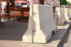 Barriers of Concrete in Berlin Royalty Free Stock Images