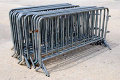 Barriers for crowd control Stock Photo