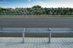 Barriers on highway Stock Photography