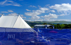 Barriers & main stage. Festival No.6. 2014 Stock Image