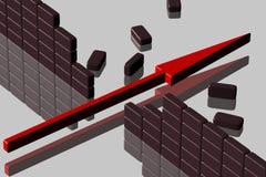 barries złamać Zdjęcia Stock
