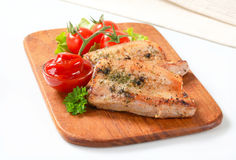 Barriga de carne de porco picante e molho de tomate Foto de Stock Royalty Free
