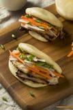 Barriga de carne de porco cozinhada caseiro Bao Buns fotos de stock