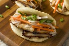 Barriga de carne de porco cozinhada caseiro Bao Buns imagem de stock royalty free