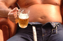 Barriga de cerveja Imagem de Stock