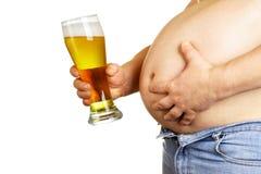 Barriga de cerveja imagens de stock