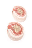 Barriga e enchimento de carne de porco crua Imagem de Stock Royalty Free