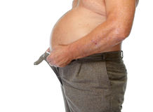 Barriga gorda do homem imagem de stock