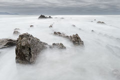 Barrika beach with silky water Royalty Free Stock Image