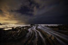 Barrika coast at night Royalty Free Stock Photography