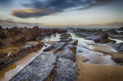 Barrika rocs stock images