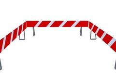Barrikade 3D stock abbildung