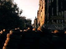 barrikade Stockfotos