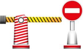 barrikaden vektor illustrationer