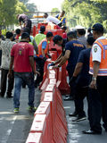 barrikaden fotografering för bildbyråer