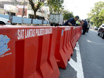 barrikaden royaltyfria foton