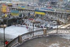 Barrikaden in der Instytutska-Straße lizenzfreie stockbilder