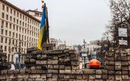 Barrikaden i en dag av sorg för de dödade in Royaltyfri Foto