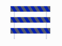 Barrikader för bruk med vägar Arkivfoto