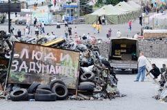Barrikader med att säga för affisch Fotografering för Bildbyråer