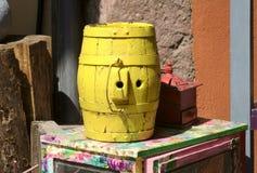 Barril amarillo foto de archivo