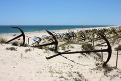 Barril Beach in Portugal Royalty Free Stock Photography
