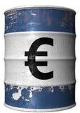 Barril con un símbolo del euro Imagen de archivo libre de regalías