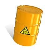 Barril con una señal de peligro Imagen de archivo libre de regalías