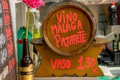 Barril da videira de Malaga Imagem de Stock
