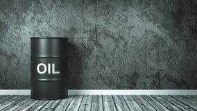 Barril de aceite en el cuarto libre illustration