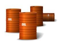 Barril de aceite rojo ilustración del vector