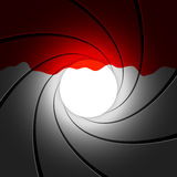 Barril de arma con sangre. Vector. Imagen de archivo libre de regalías