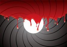 Barril de arma dentro de la sangre Foto de archivo libre de regalías